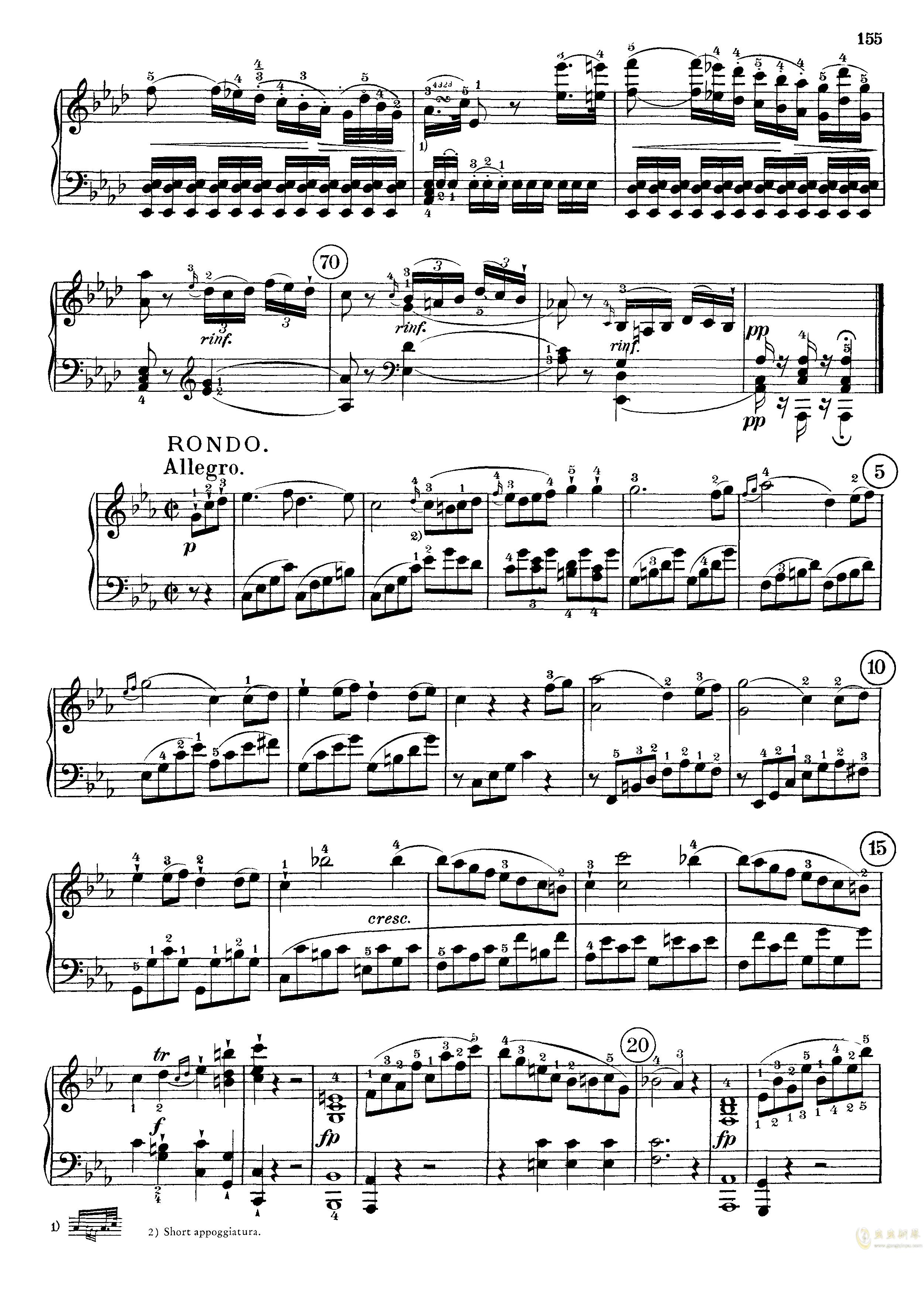 c小调第八号钢琴奏鸣曲钢琴谱 第13页