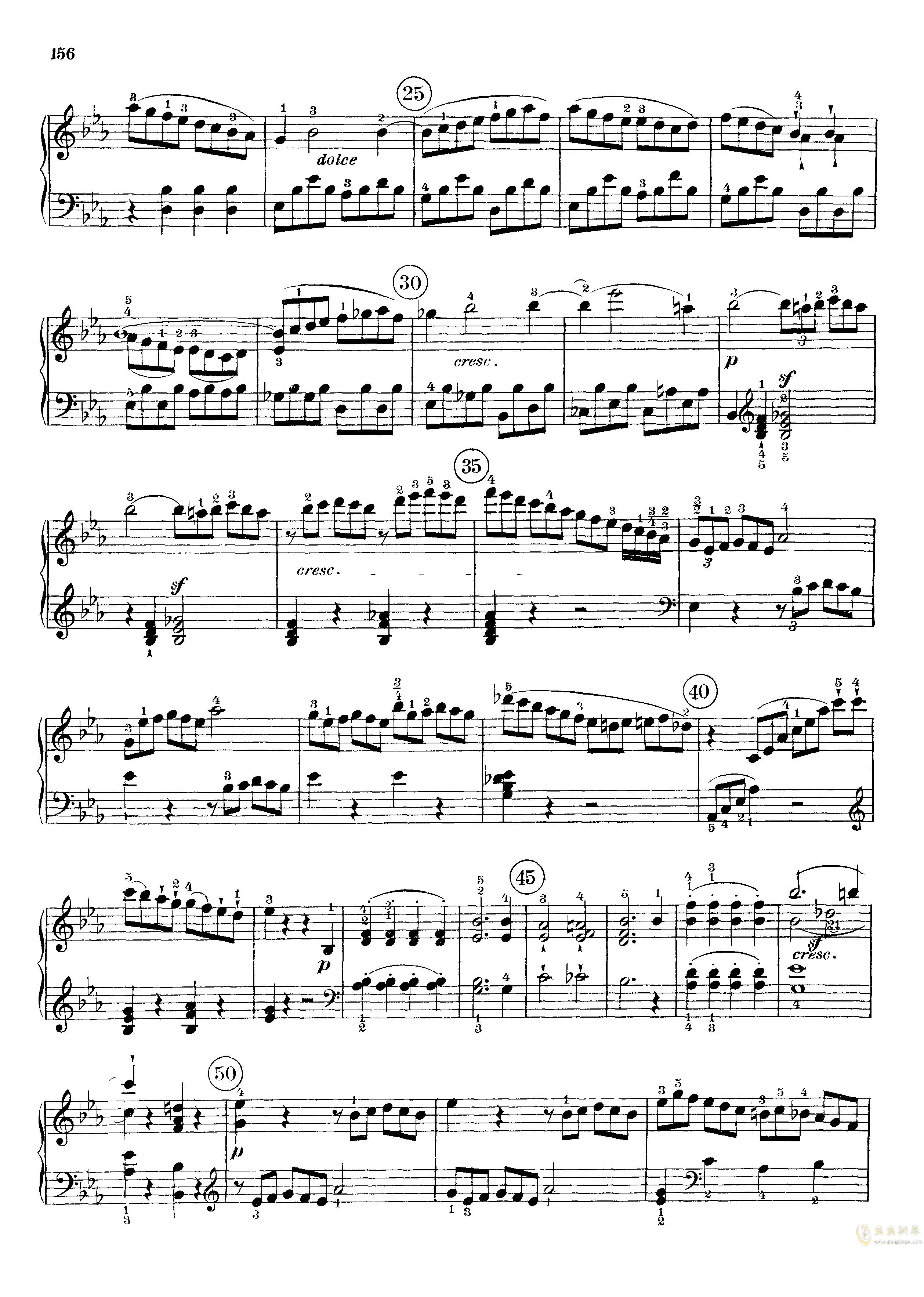 c小调第八号钢琴奏鸣曲钢琴谱 第14页