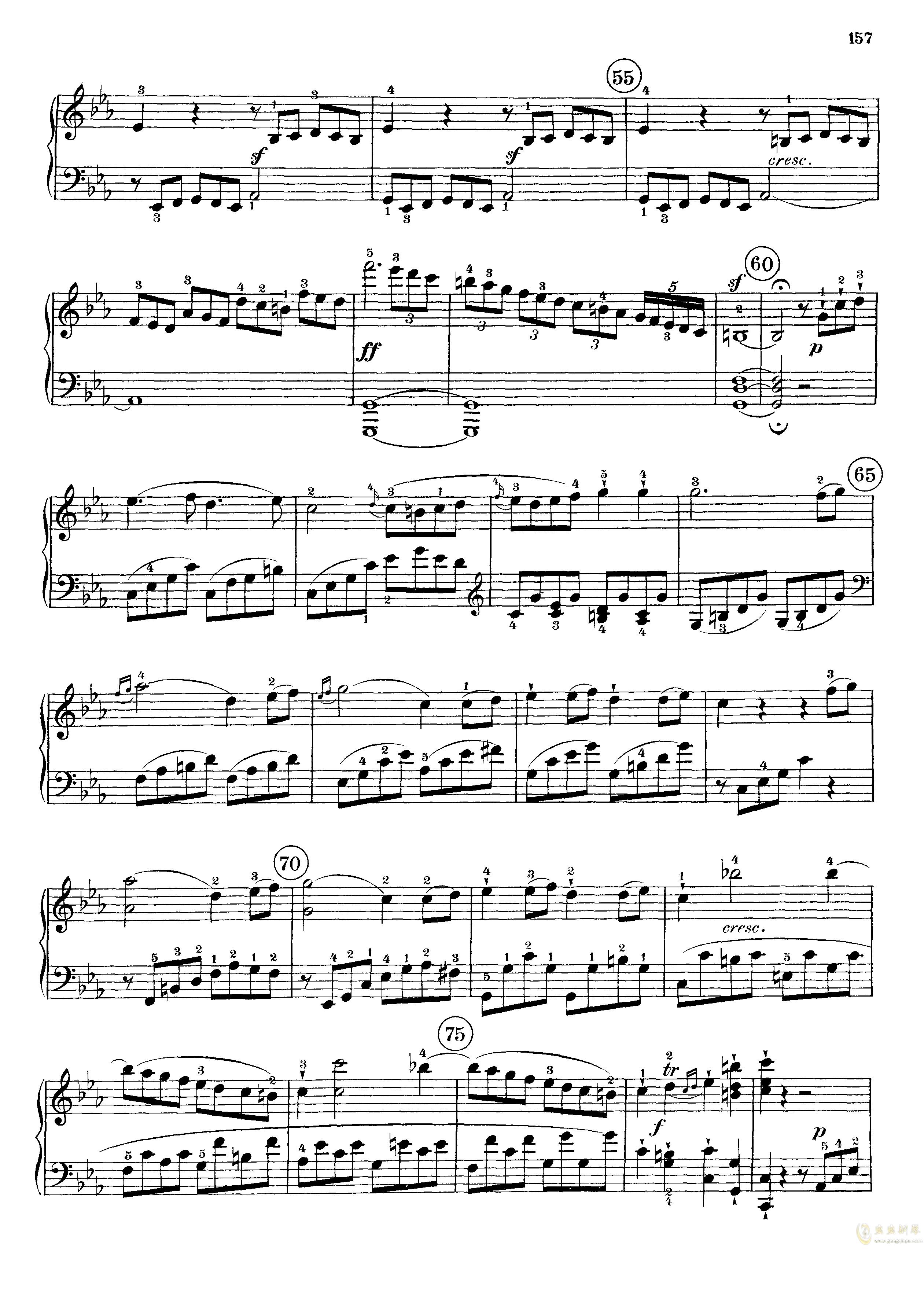 c小调第八号钢琴奏鸣曲钢琴谱 第15页