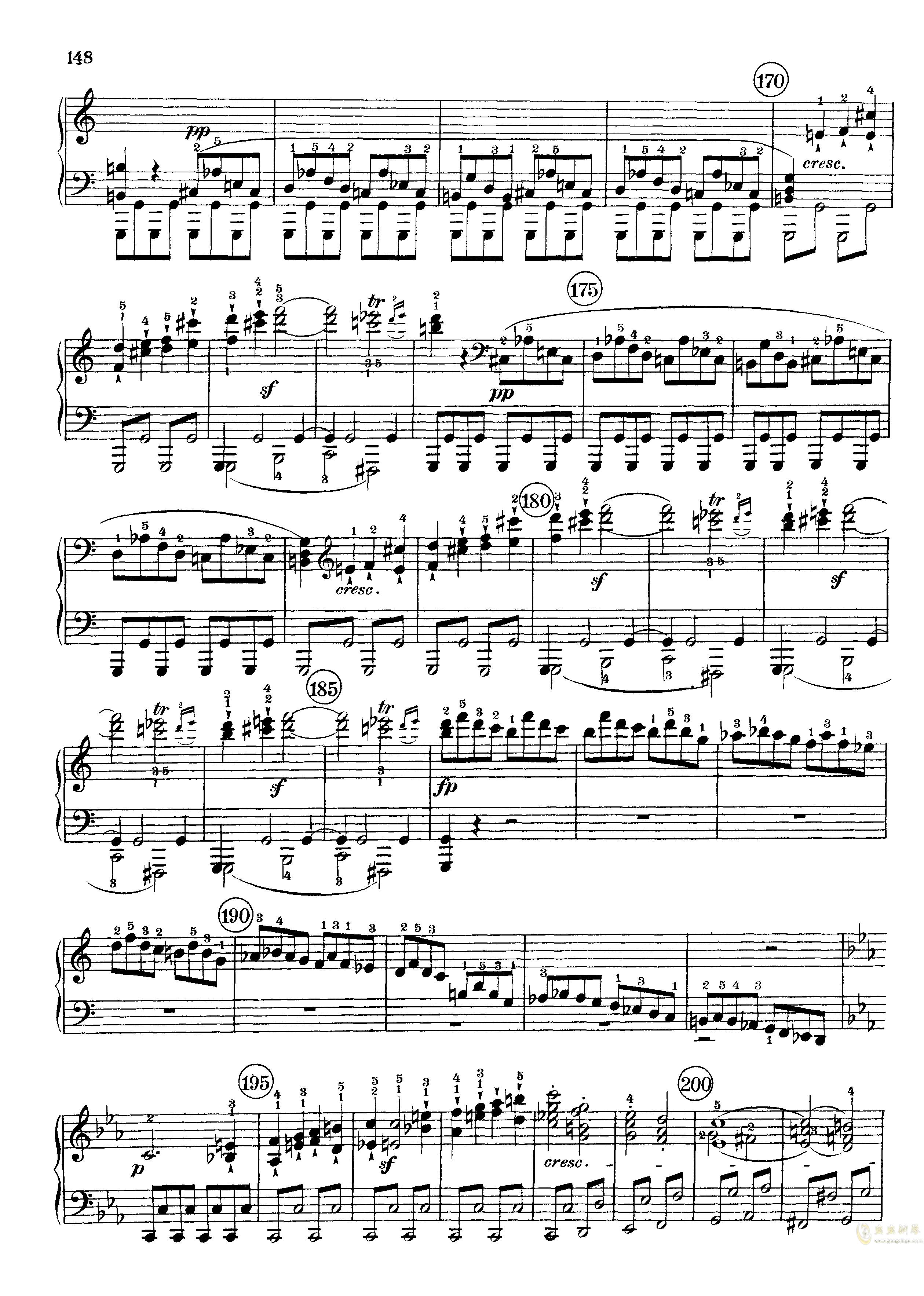 c小调第八号钢琴奏鸣曲钢琴谱 第6页