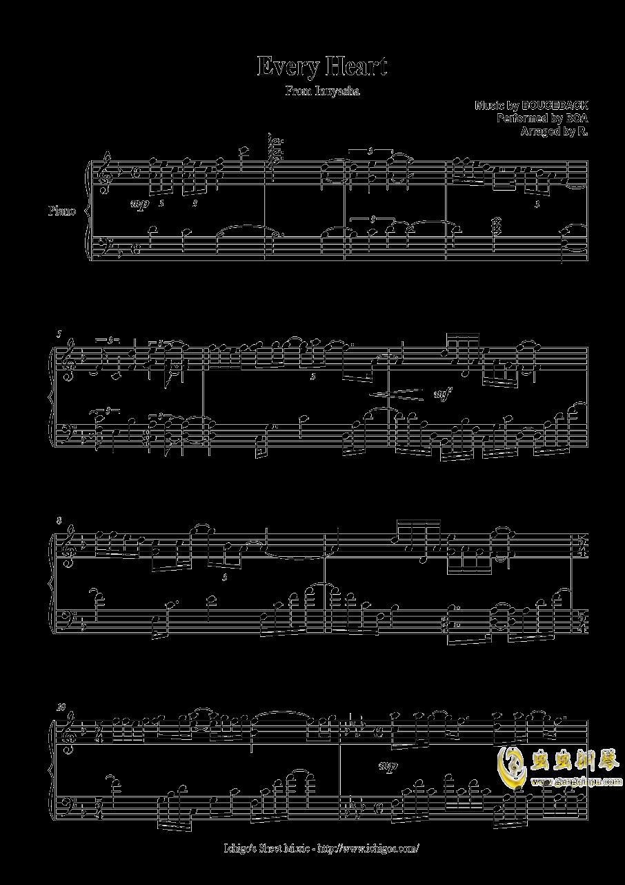 every heart钢琴谱 第1页