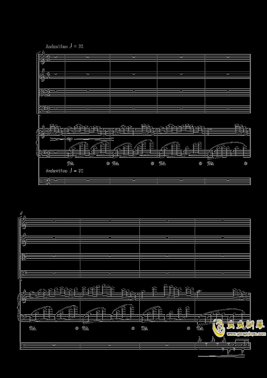 October钢琴谱 第1页
