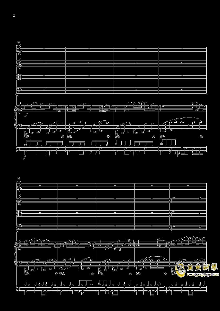 October钢琴谱 第2页