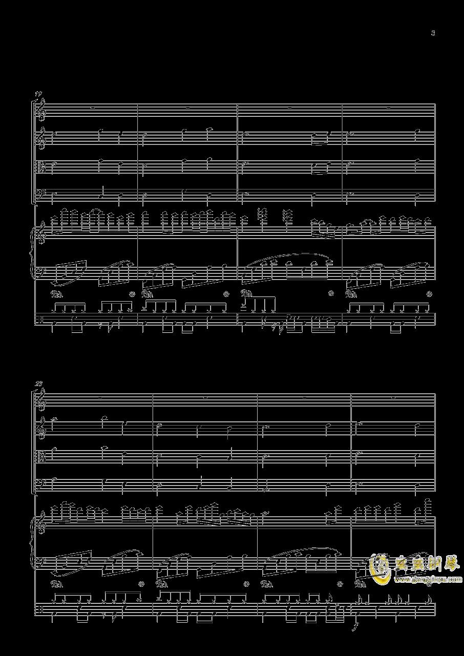 October钢琴谱 第3页