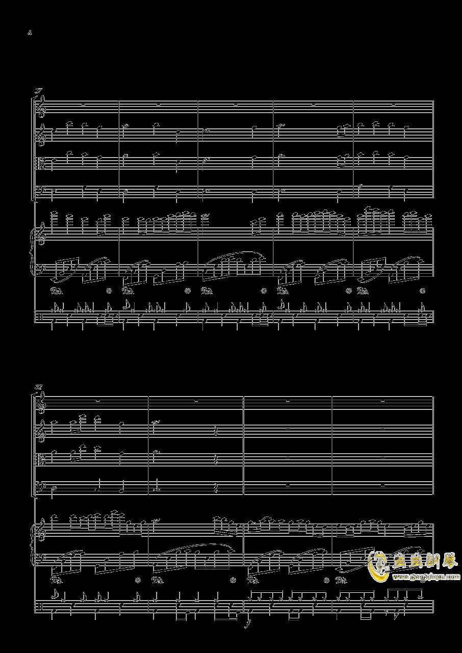 October钢琴谱 第4页