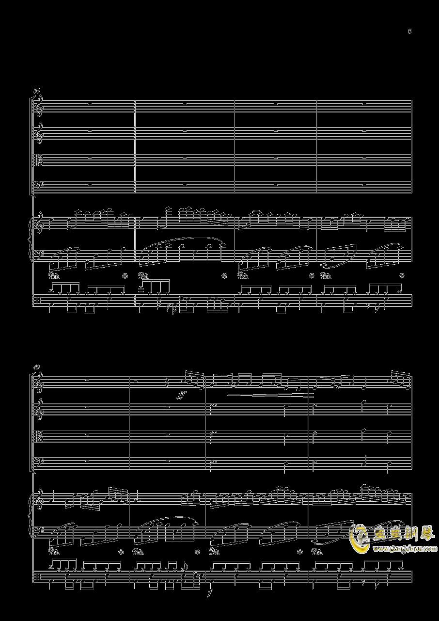 October钢琴谱 第5页