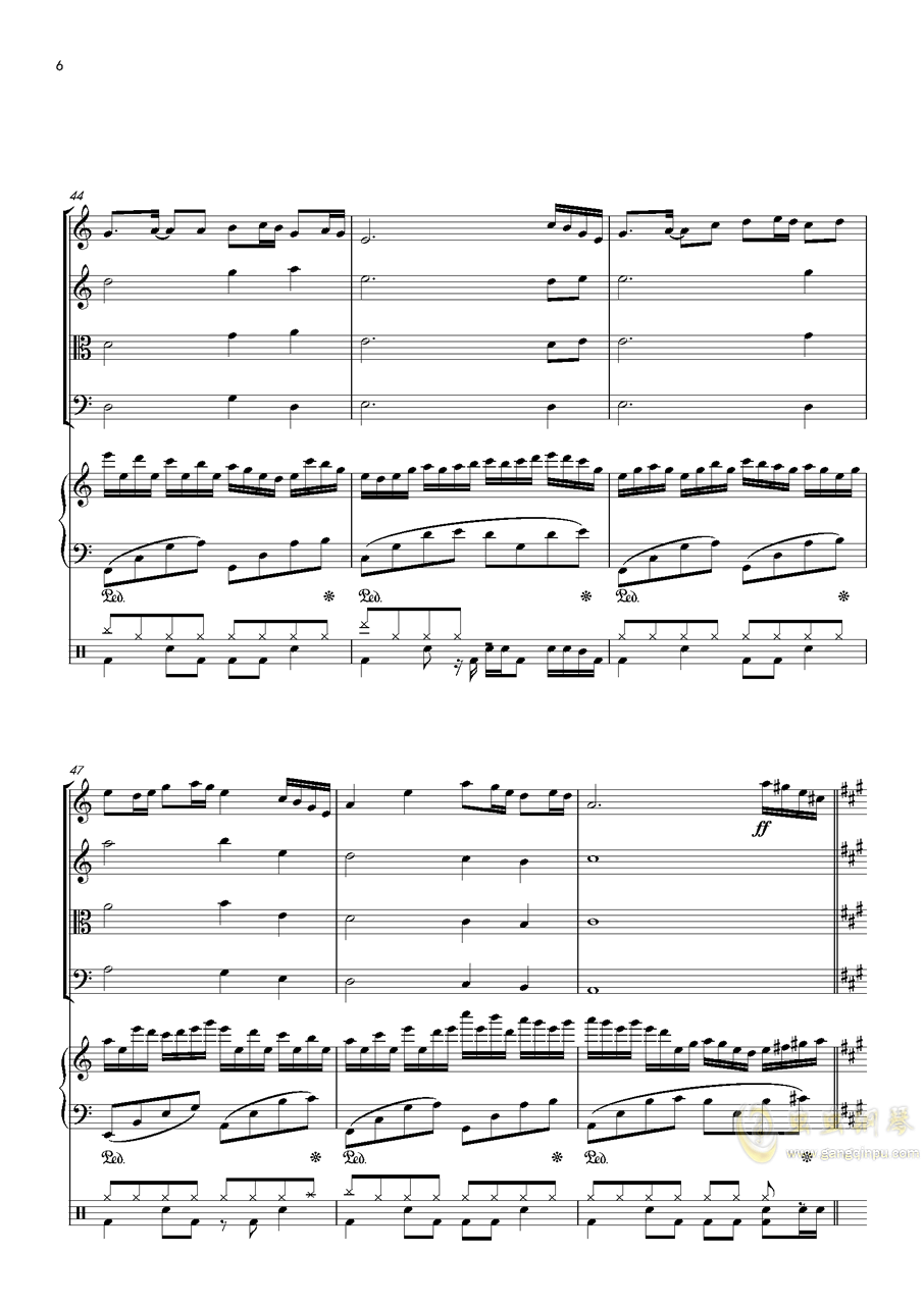 October钢琴谱 第6页