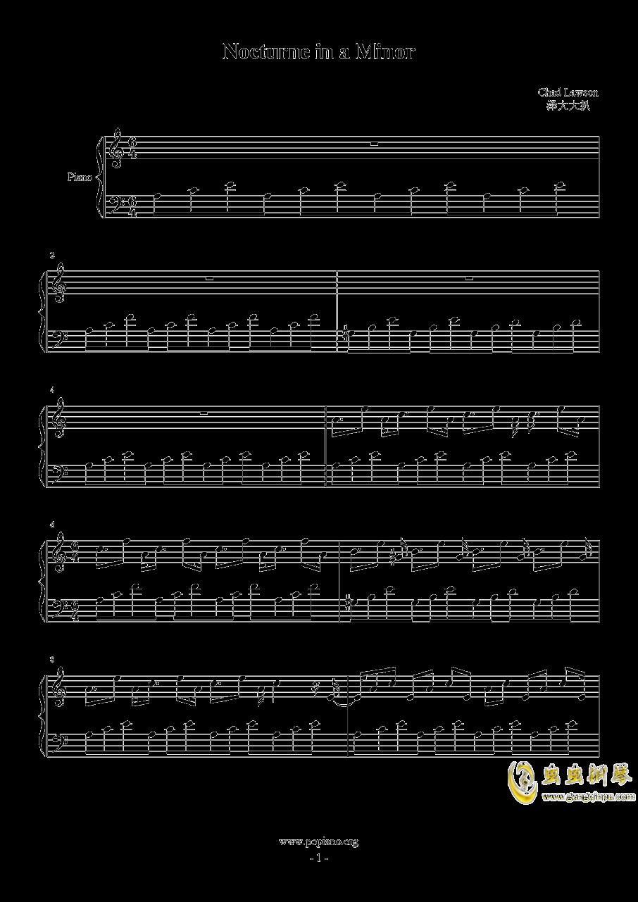 Nocturne in a Minor钢琴谱 第1页