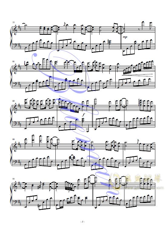 红豆钢琴谱 第5页
