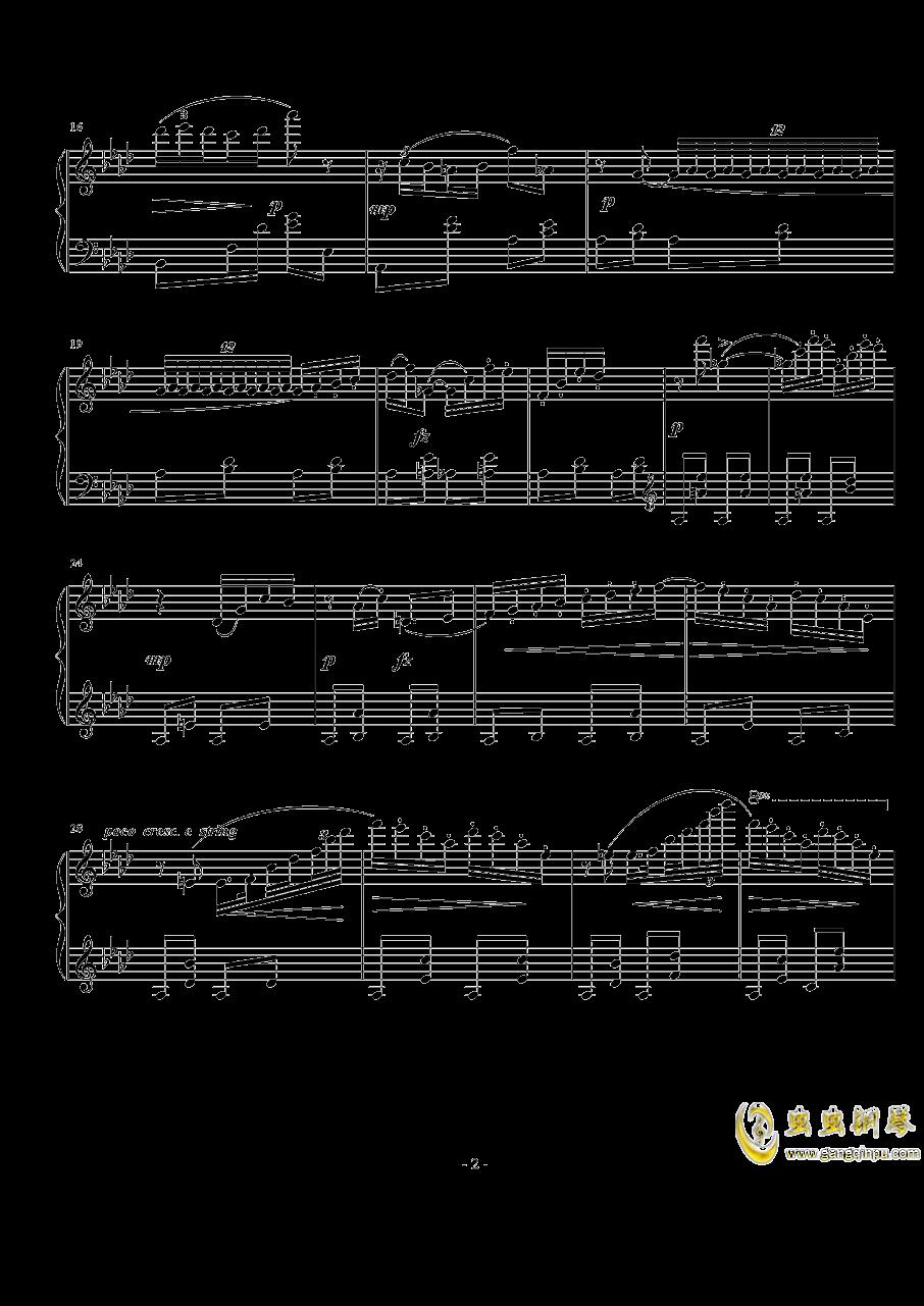 小谐谑曲钢琴谱 第2页