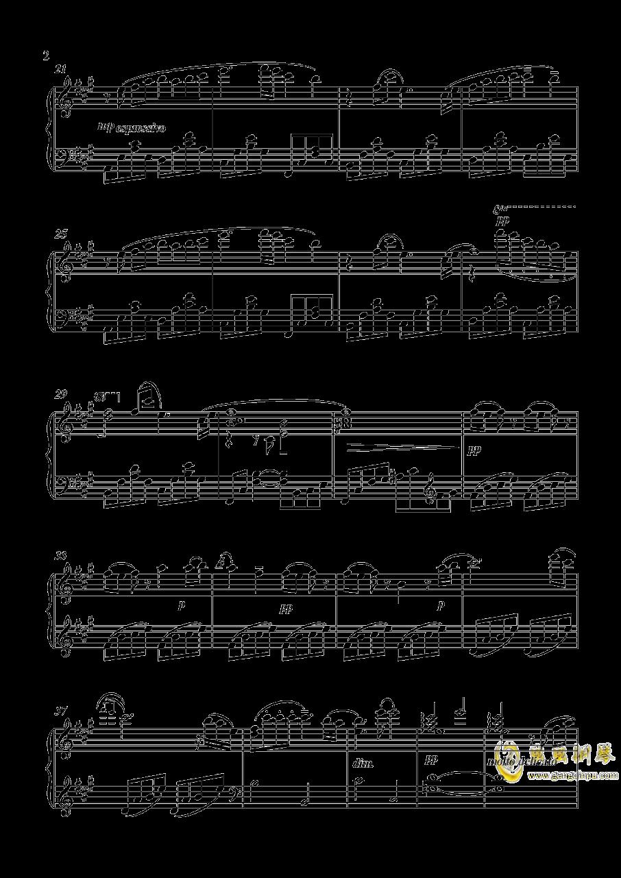 鸣狐近侍曲钢琴谱 第2页