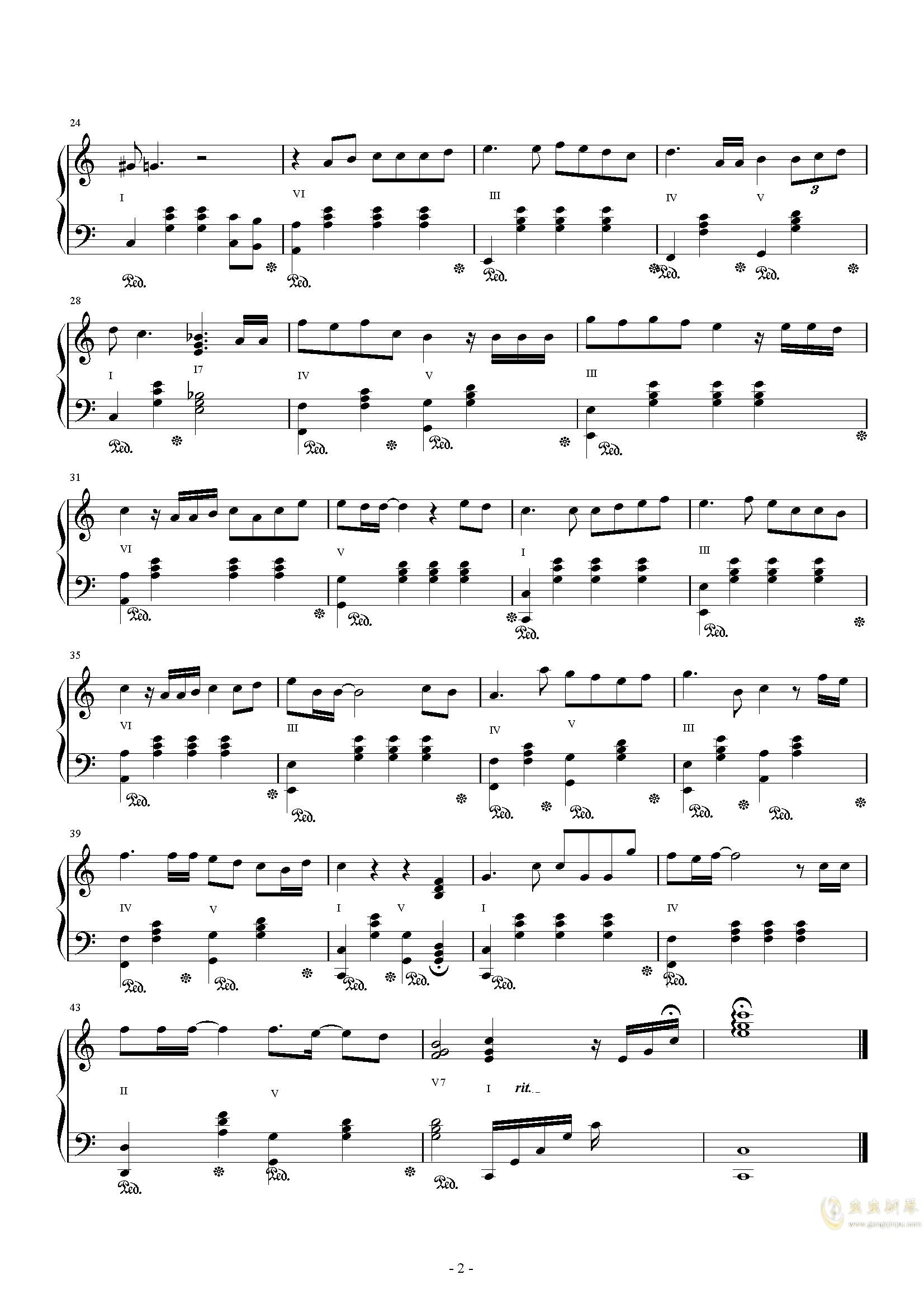 后来钢琴谱 第2页