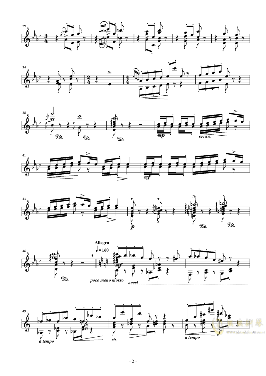 争う不可思�h钢琴谱 第2页