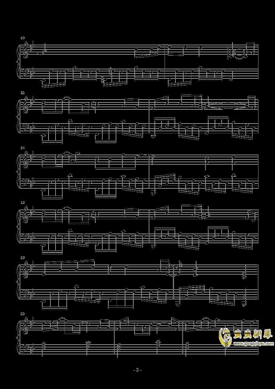 艺术家钢琴谱 第2页