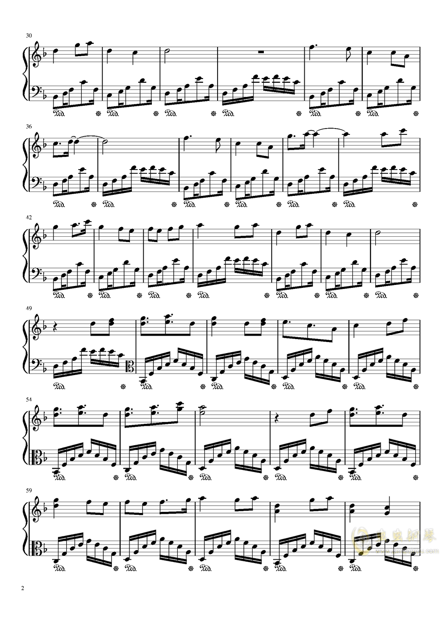 牵丝戏钢琴谱 第2页