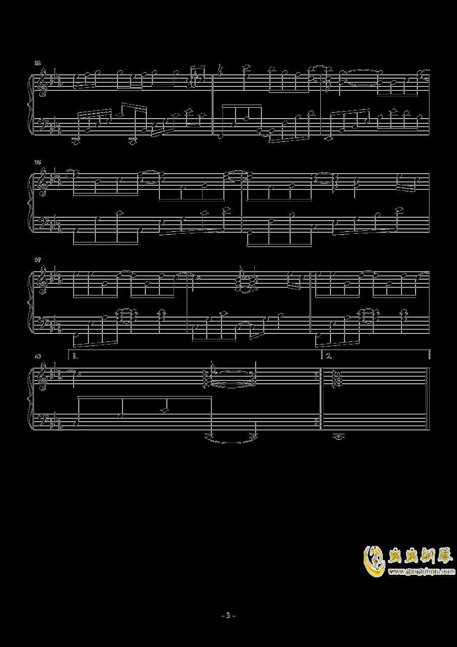 故长安钢琴谱 第3页