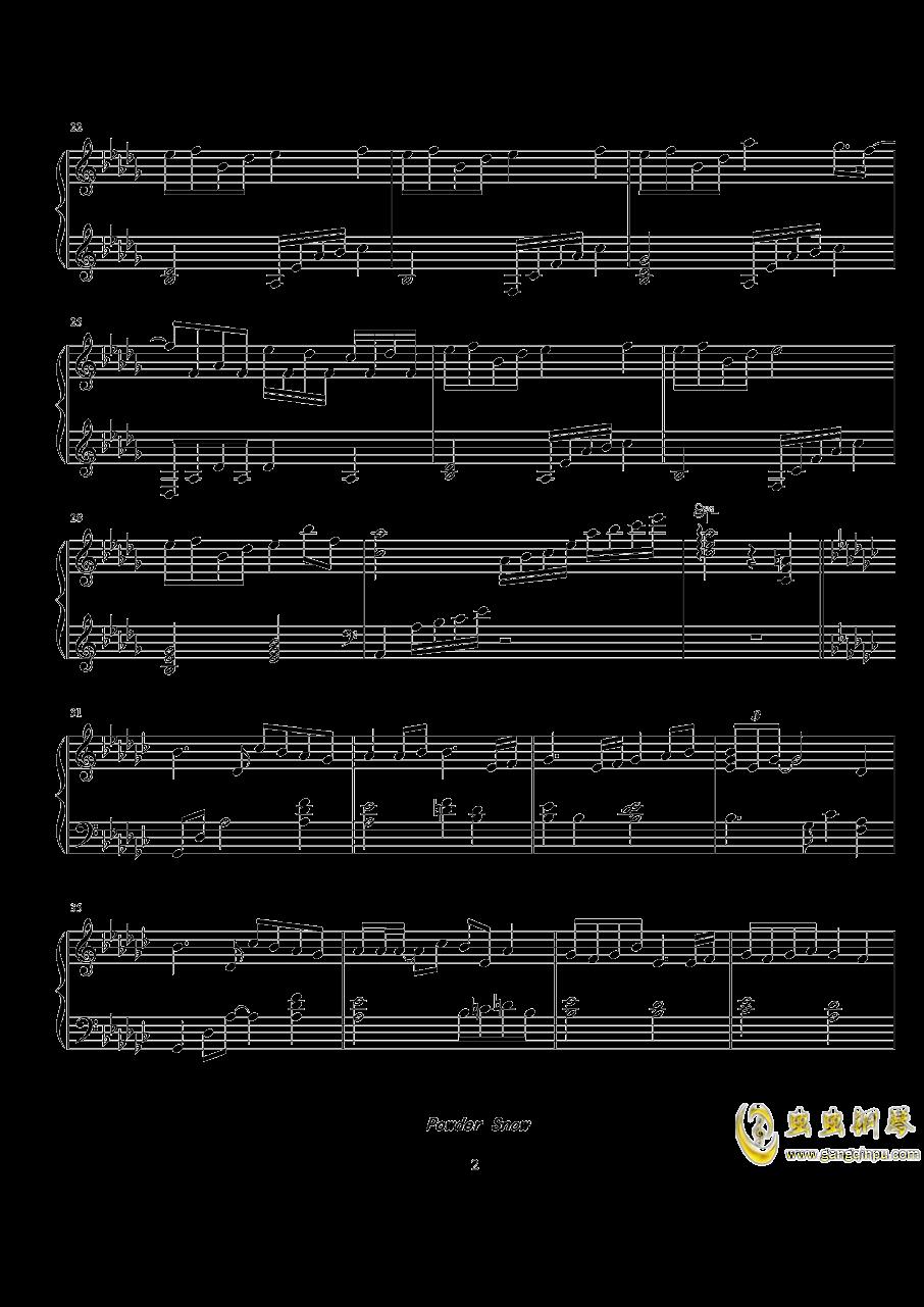 Powder Snow钢琴谱 第2页