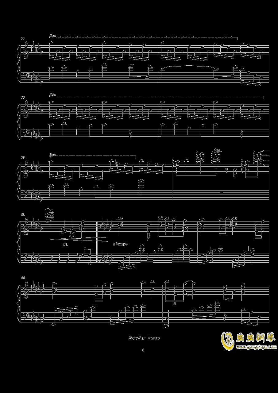 Powder Snow钢琴谱 第4页