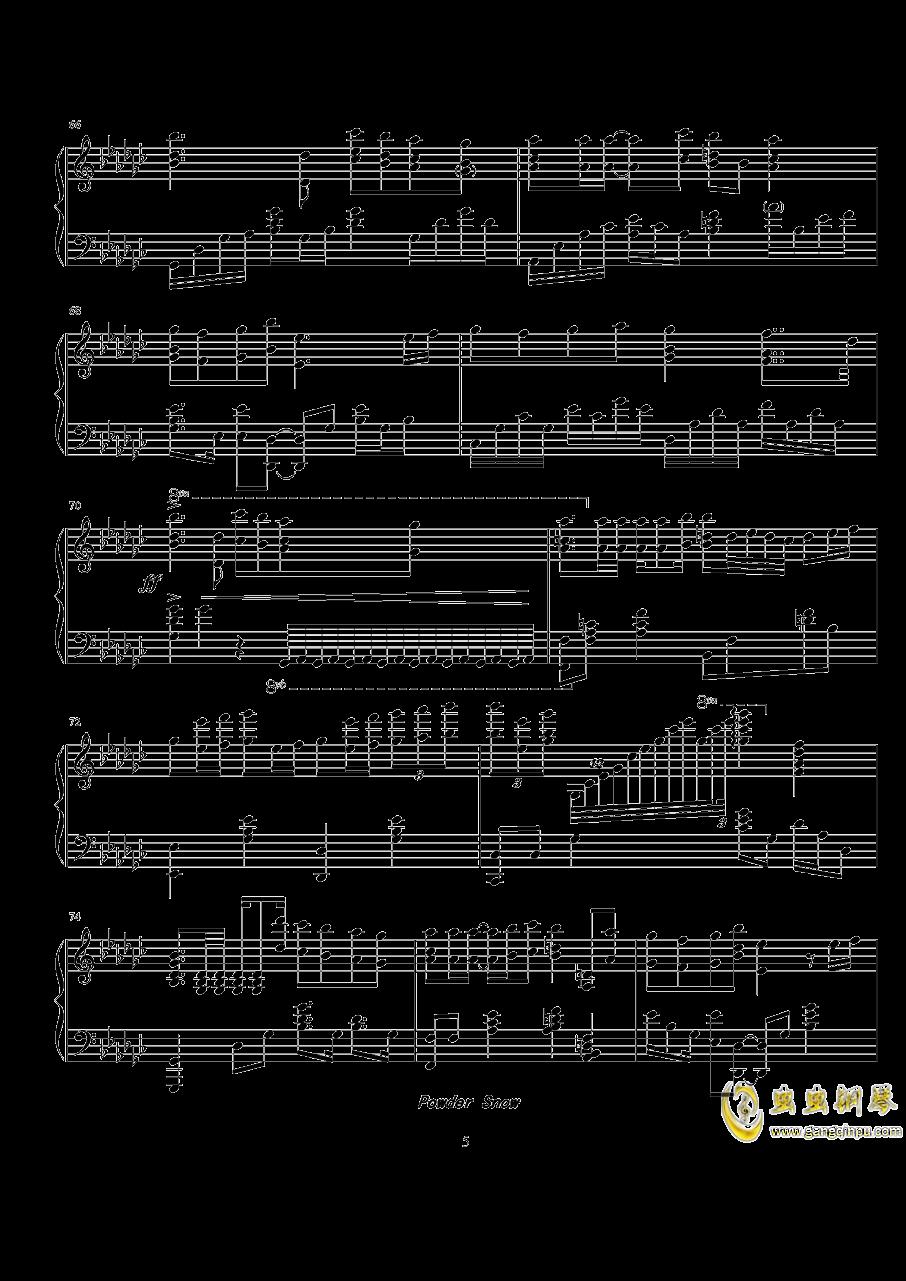 Powder Snow钢琴谱 第5页