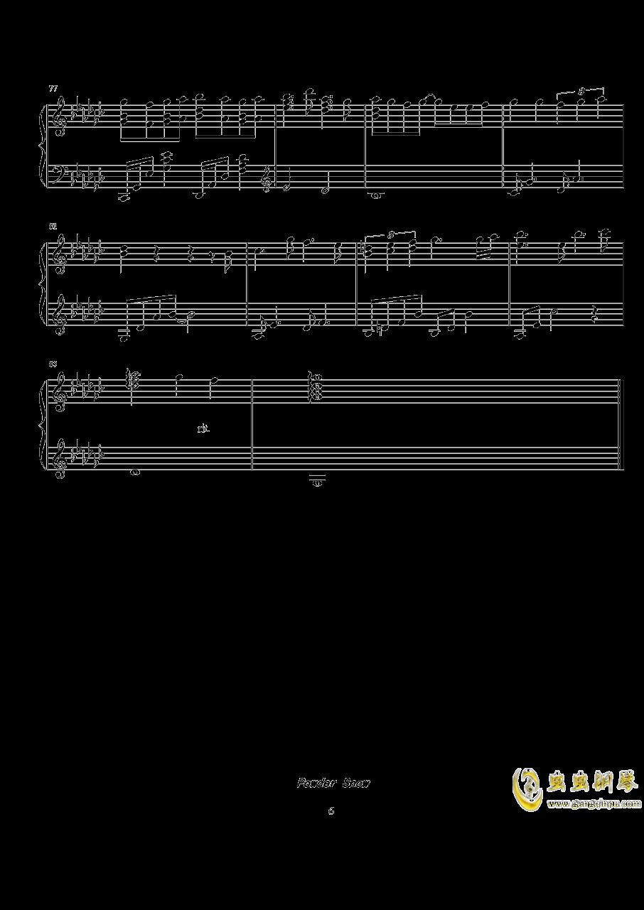 Powder Snow钢琴谱 第6页