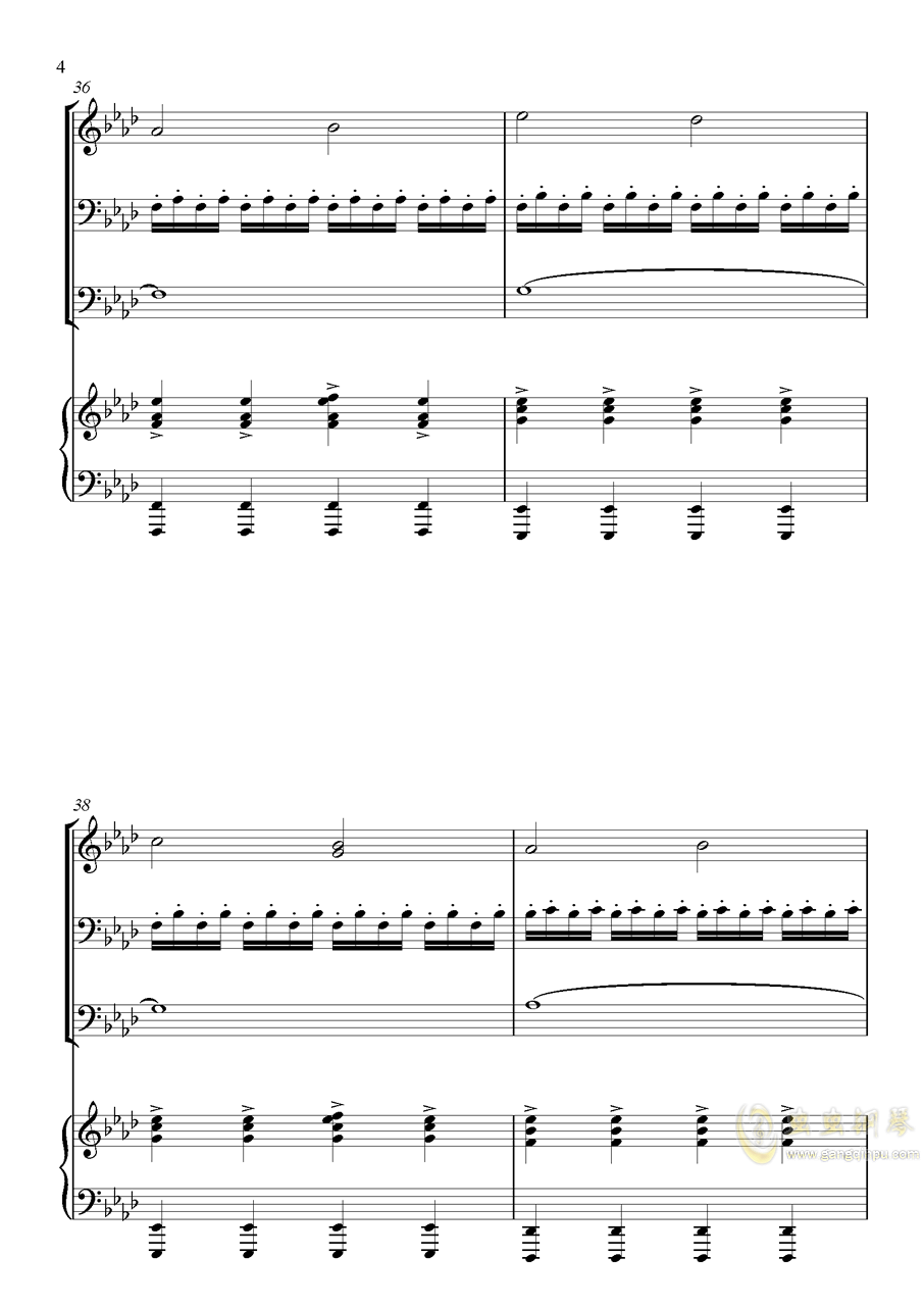 主唱之歌钢琴谱 第4页