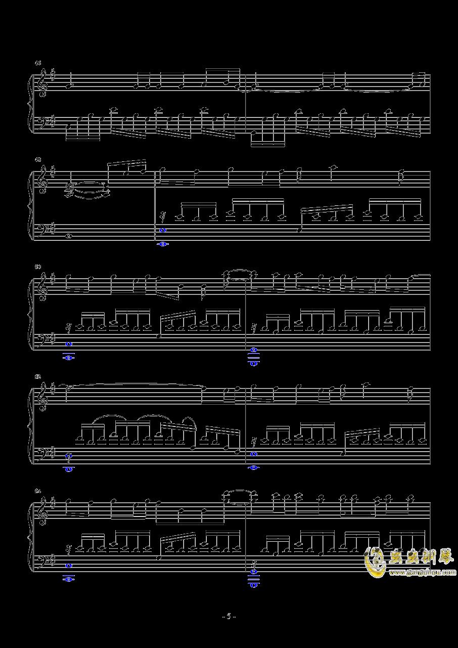漂流钢琴谱 第5页