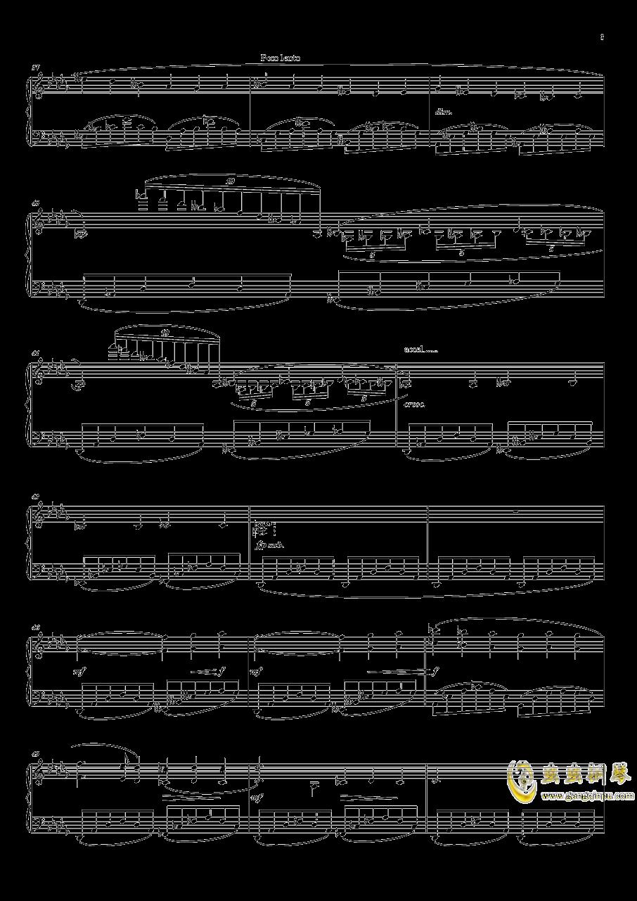灯笼街钢琴谱 第3页
