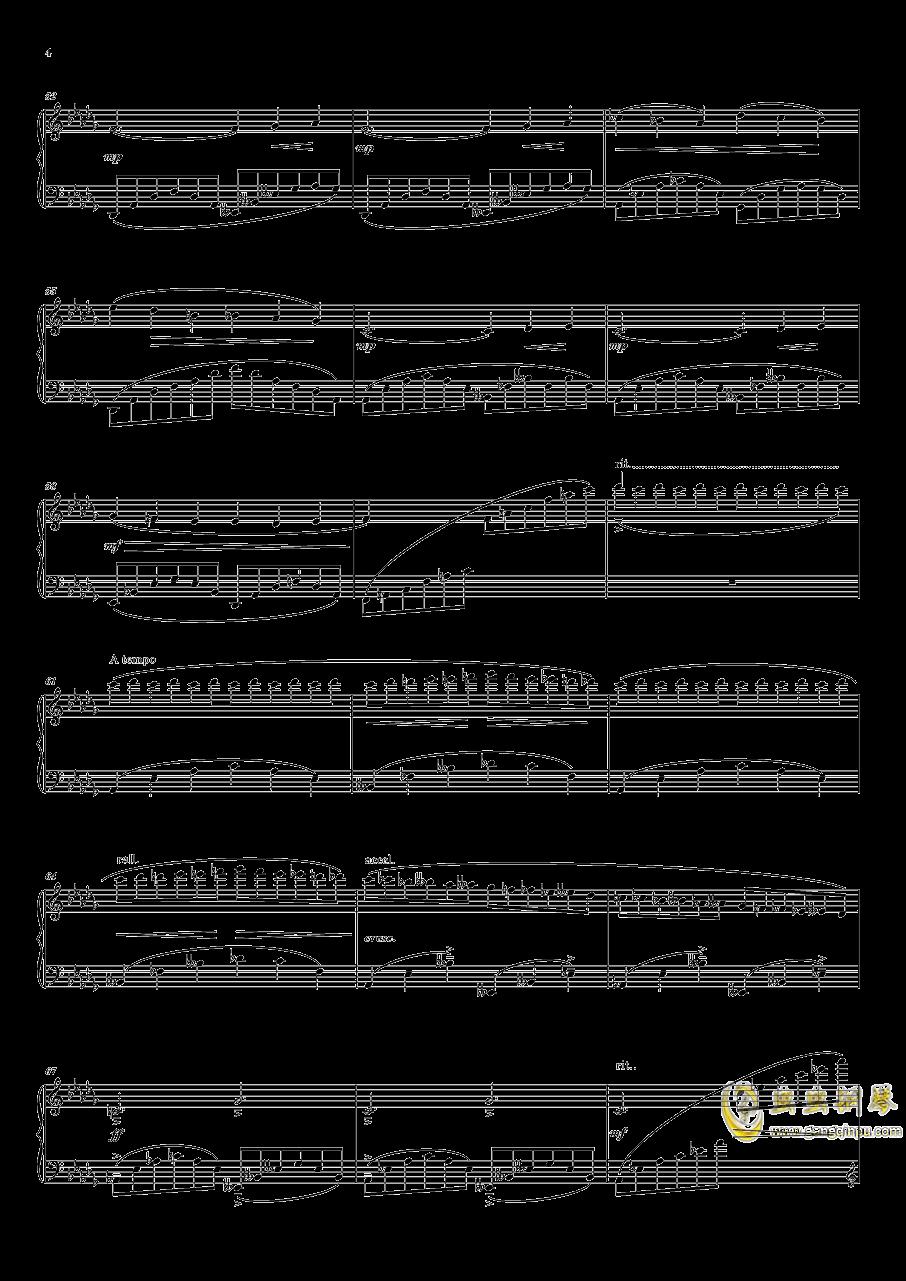 灯笼街钢琴谱 第4页