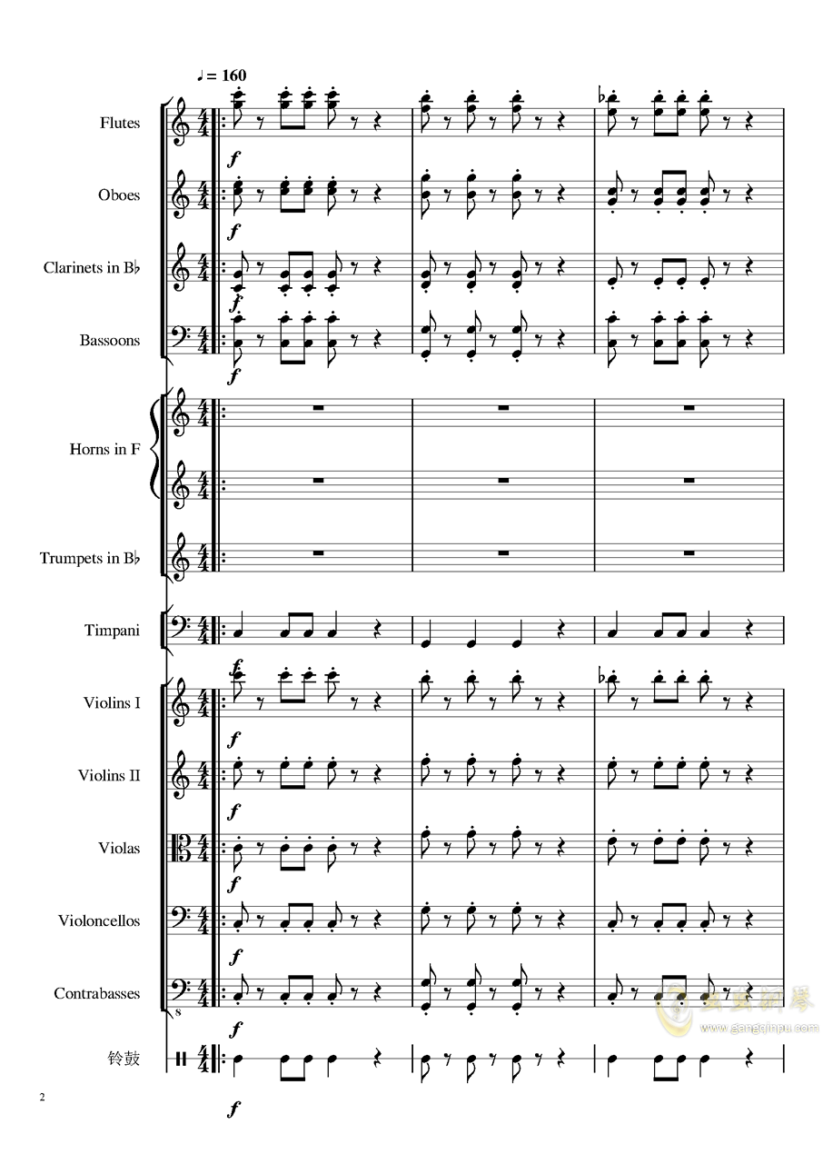4 Contredanse for Chamber Orchestra, Op.120 No.1钢琴谱 第2页