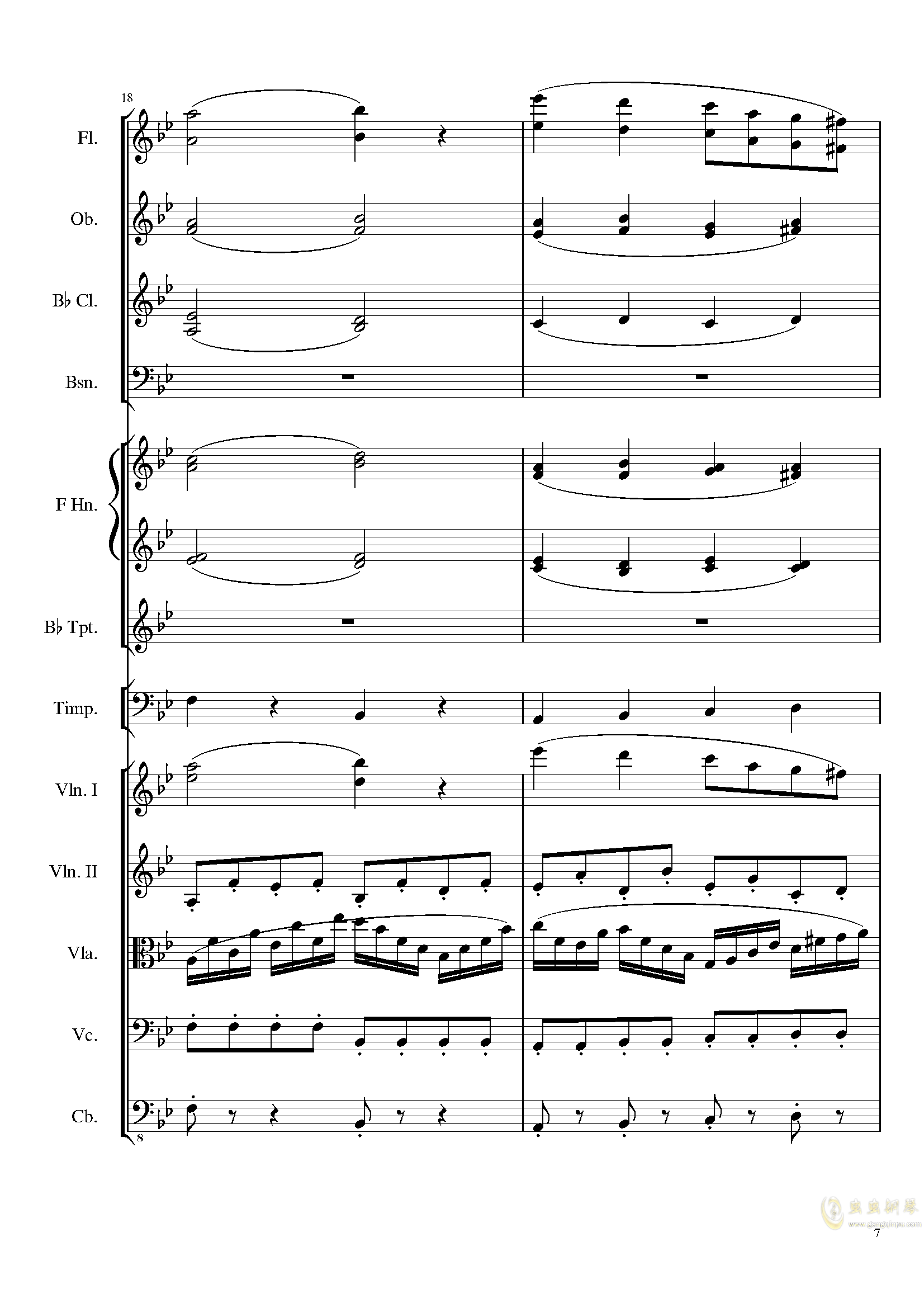 4 Contredanses for Chamber Orchestra, Op.120 No.2钢琴谱 第7页