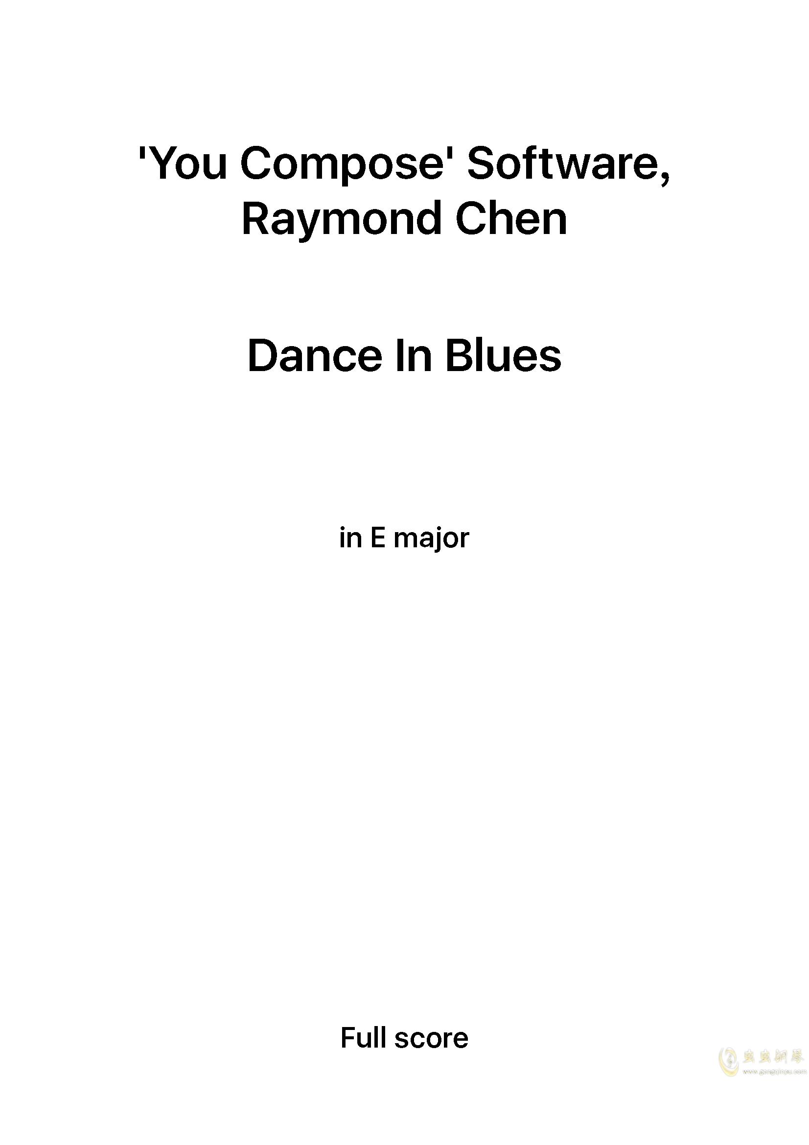 Dance in Blues钢琴谱 第1页