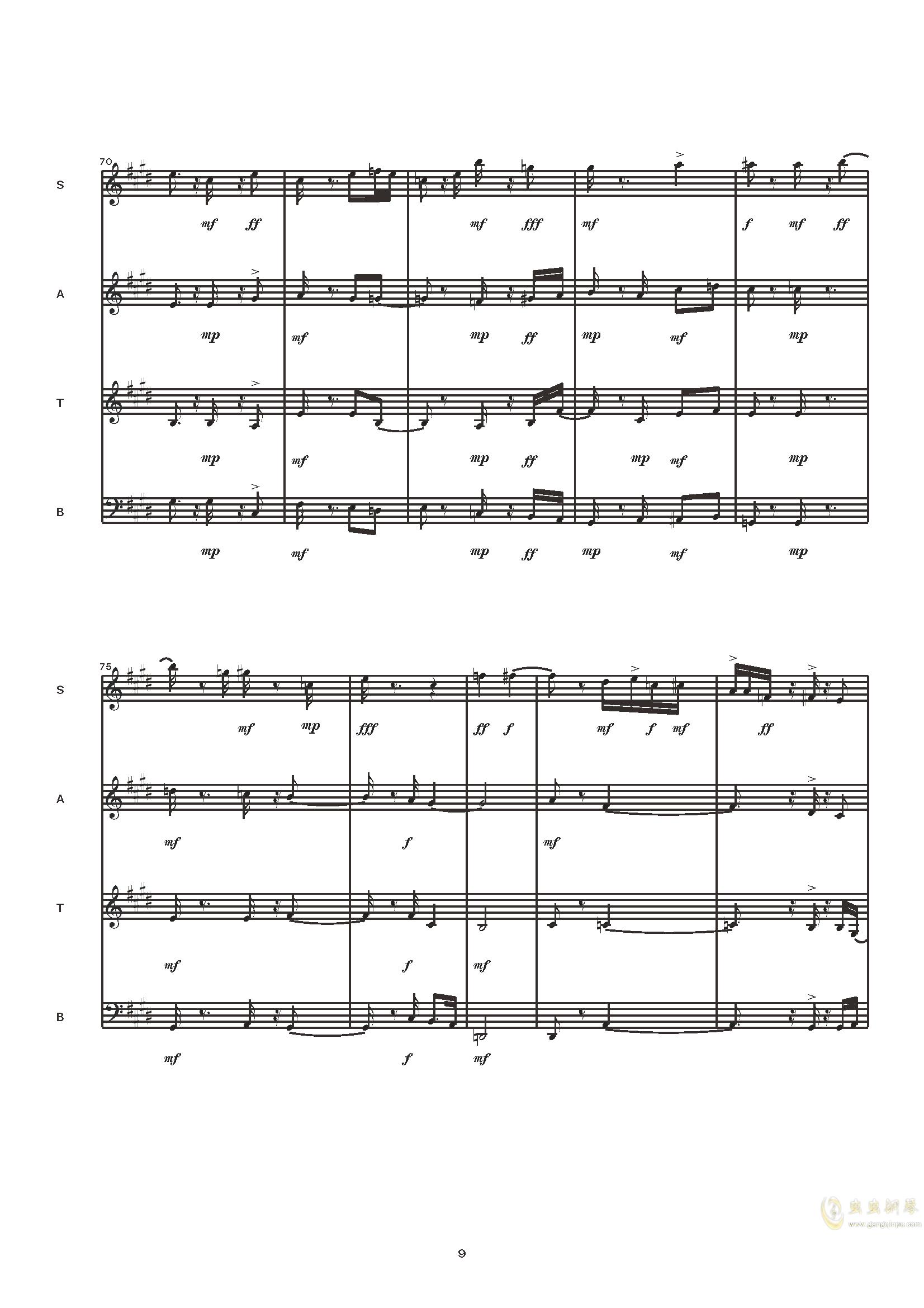 Dance in Blues钢琴谱 第11页