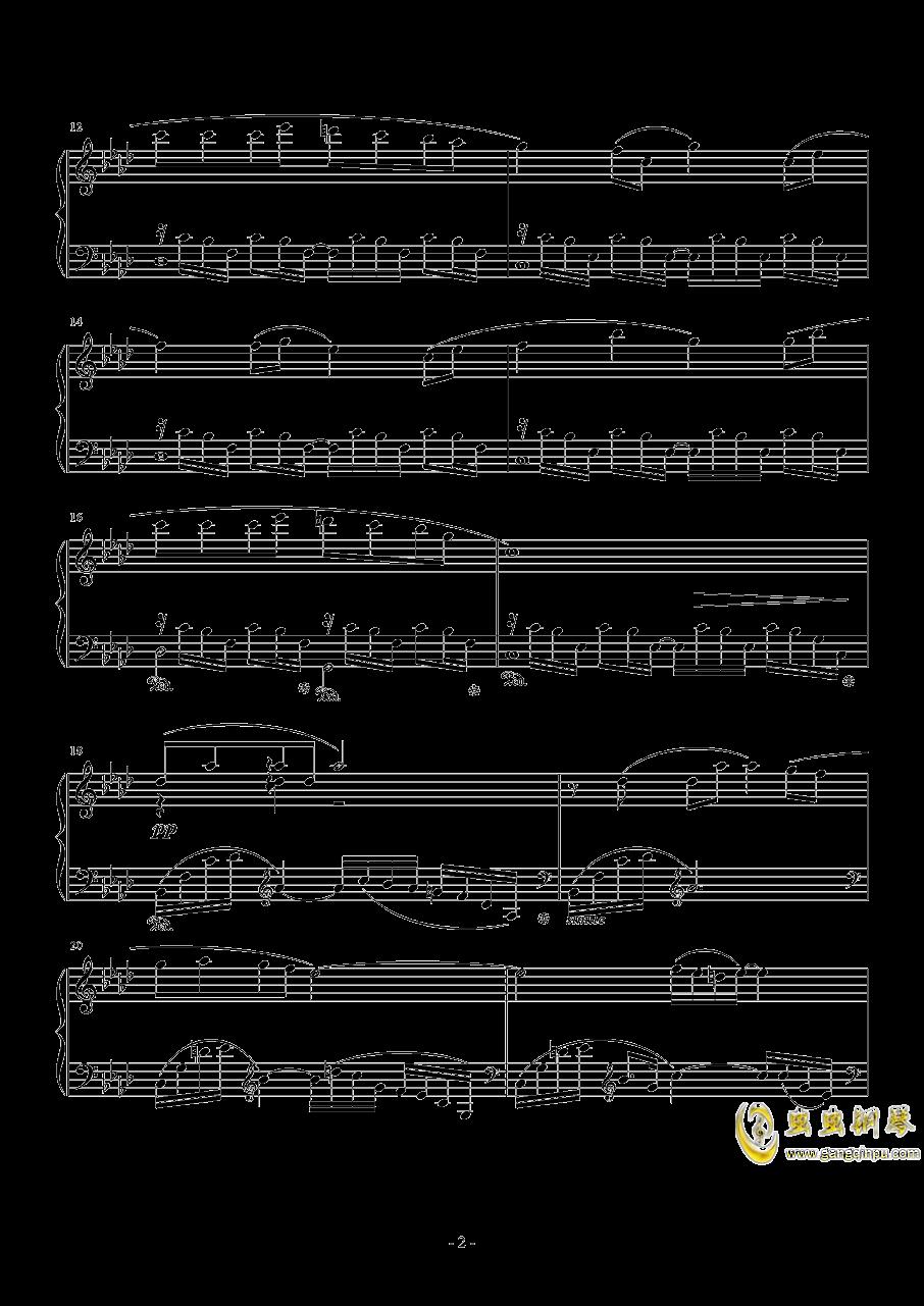 のとおり道钢琴谱 第2页