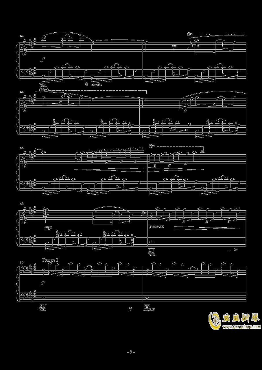 のとおり道钢琴谱 第5页