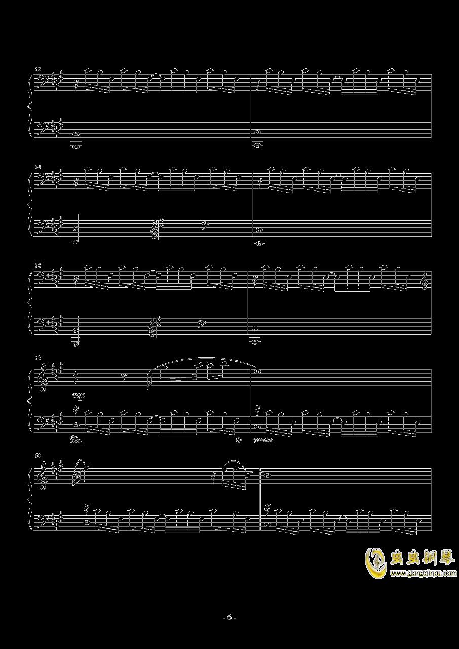 のとおり道钢琴谱 第6页