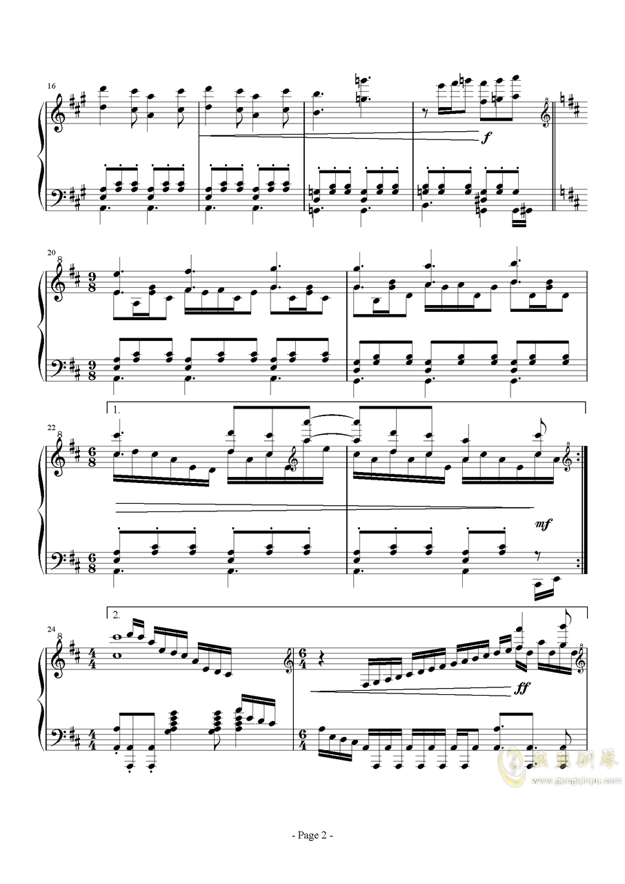 前进路上的欢乐时光钢琴谱 第2页