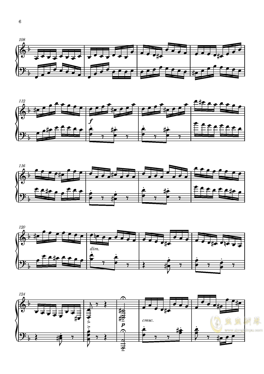 Etude in D Minor钢琴谱 第6页
