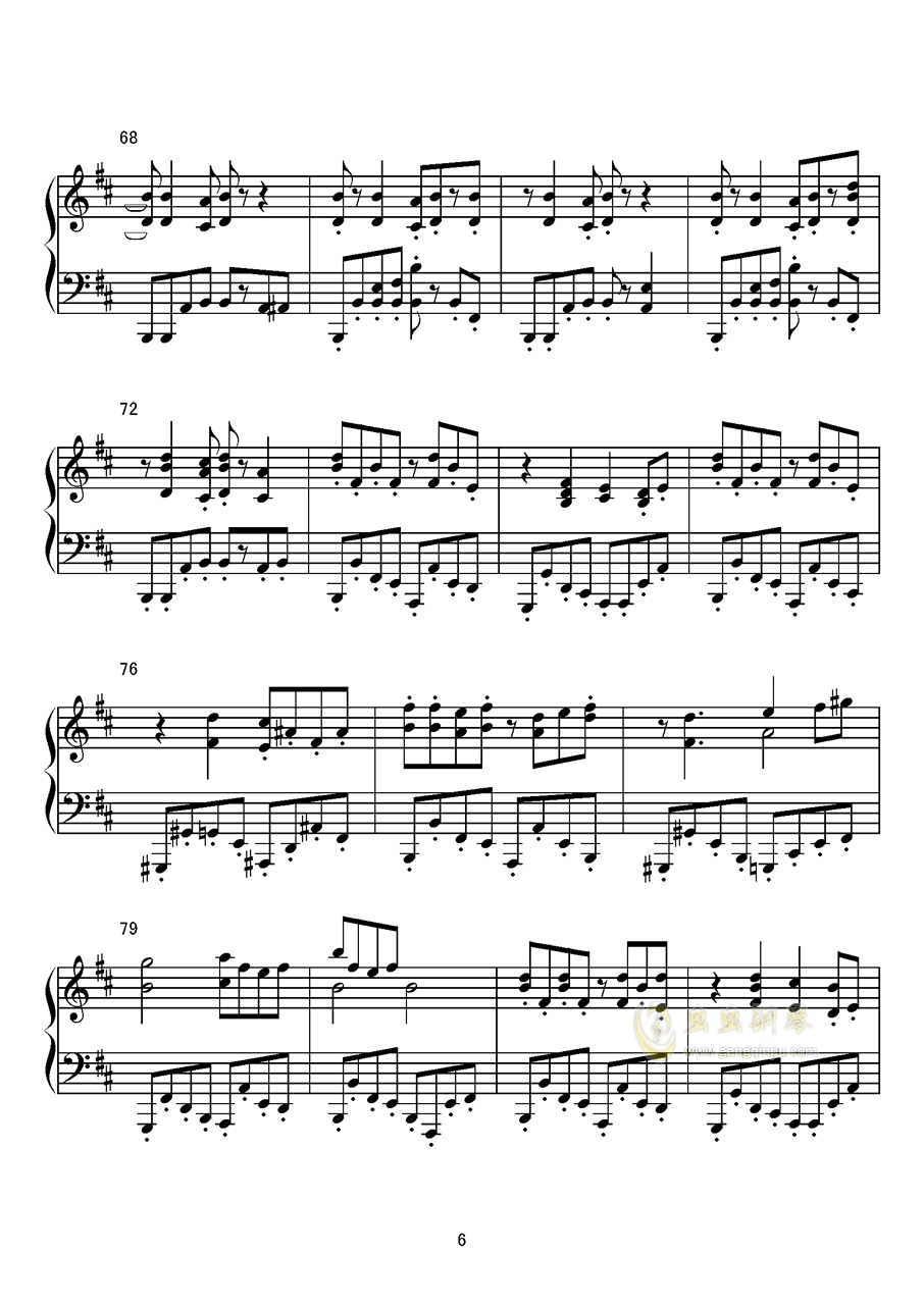 Dr. Latency的令人不眠之瞳钢琴谱 第6页