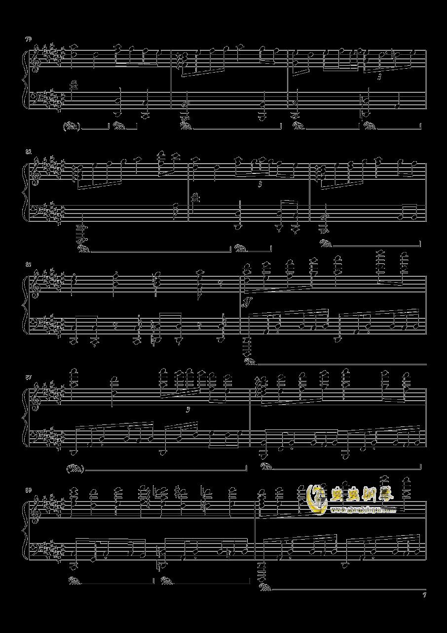Bad Apple!!!钢琴谱 第7页