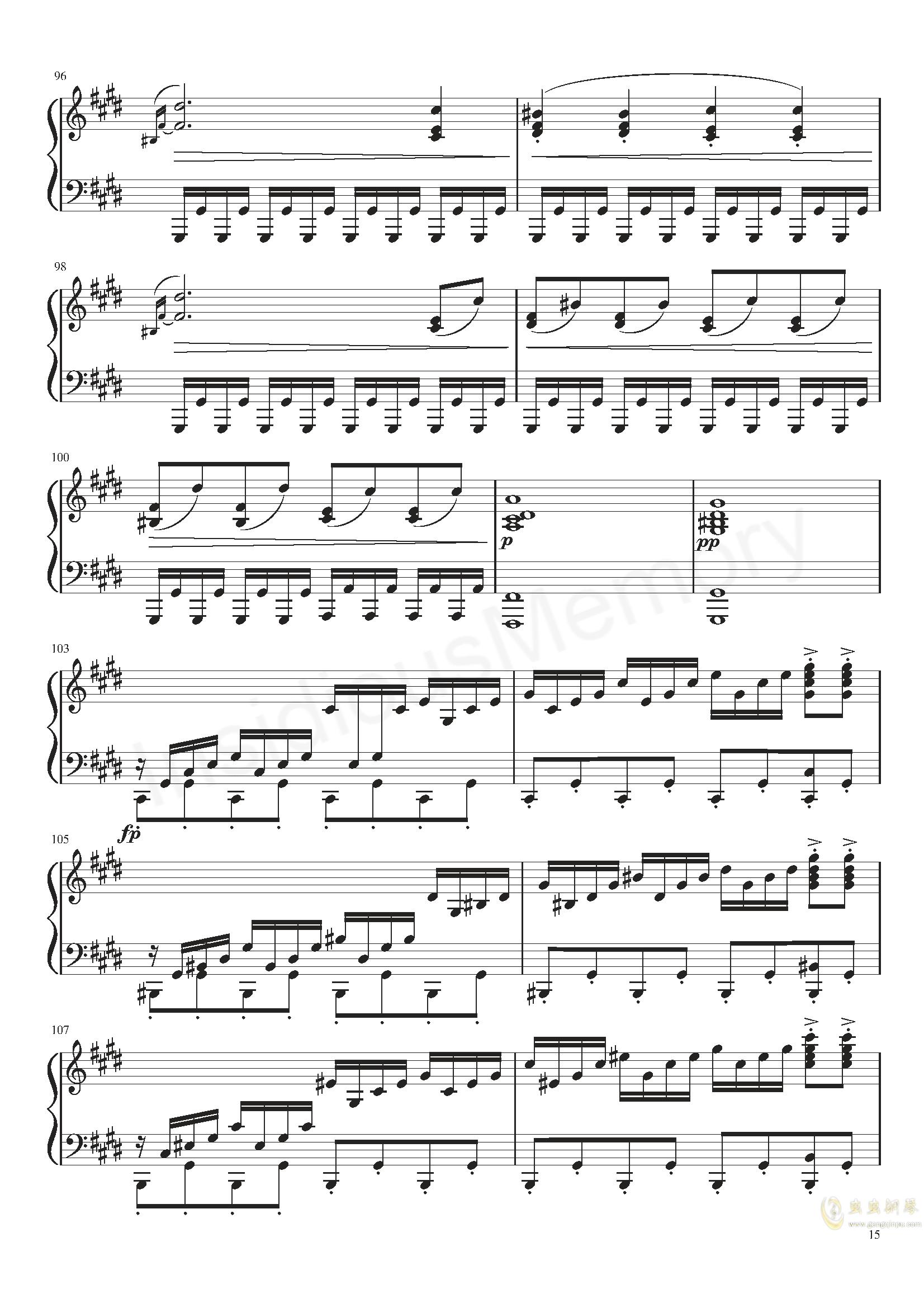 月光奏鸣曲钢琴谱 第15页