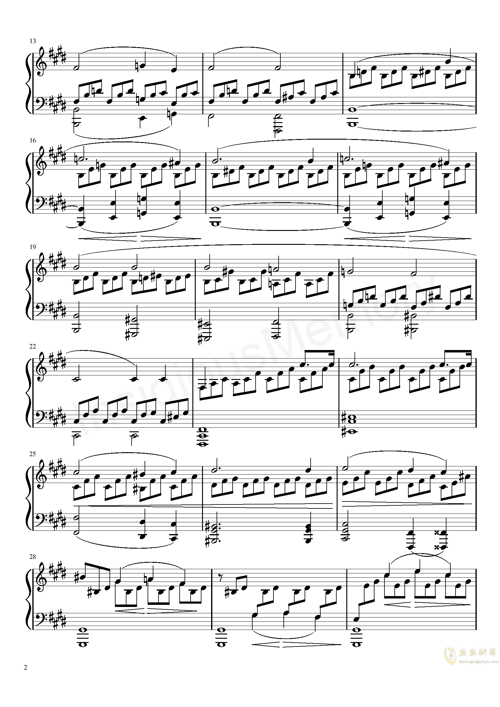 月光奏鸣曲钢琴谱 第2页