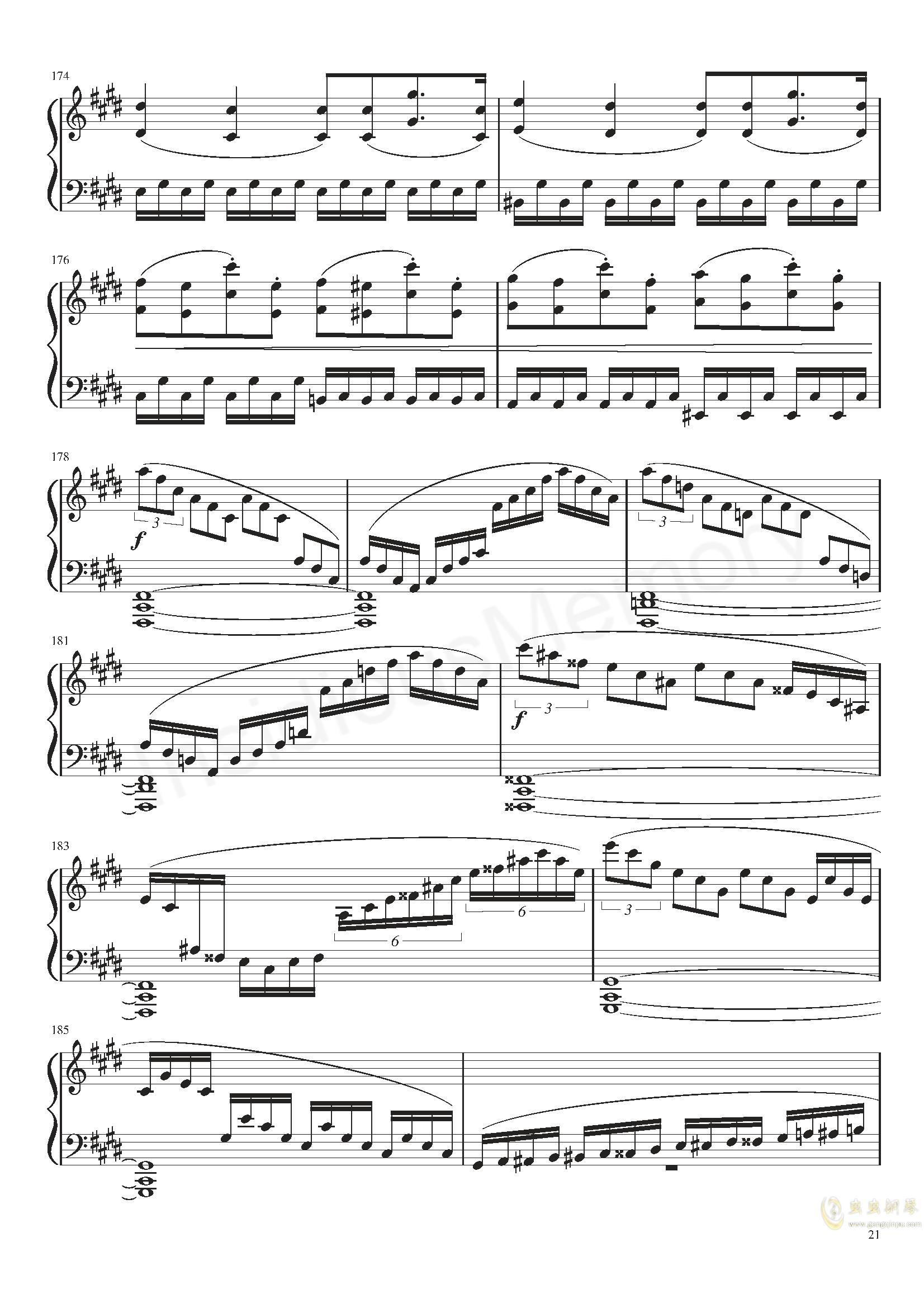 月光奏鸣曲钢琴谱 第21页