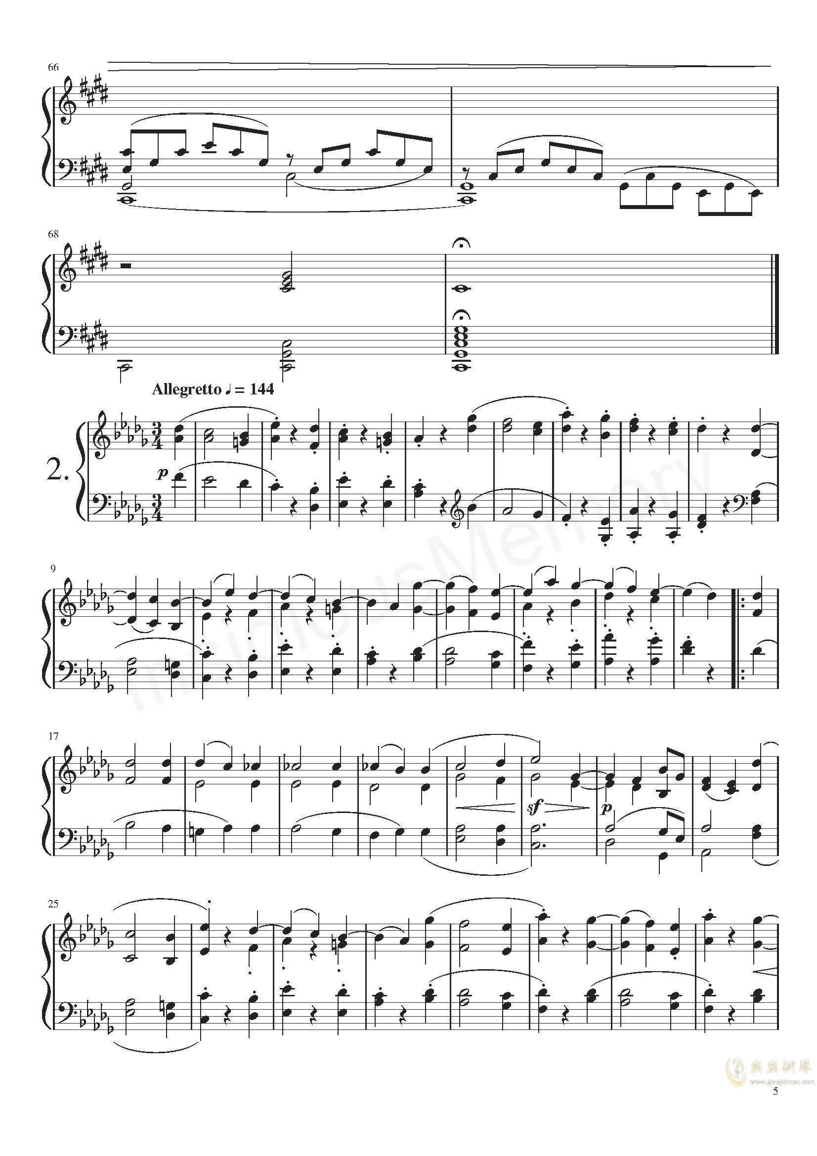 月光奏鸣曲钢琴谱 第5页