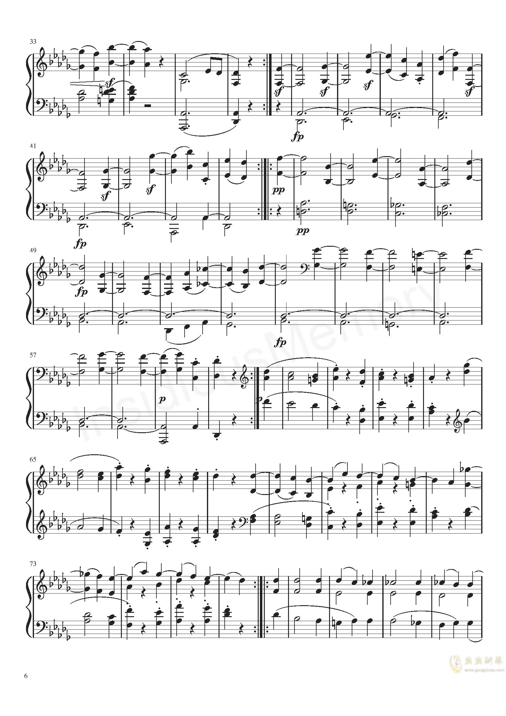月光奏鸣曲钢琴谱 第6页