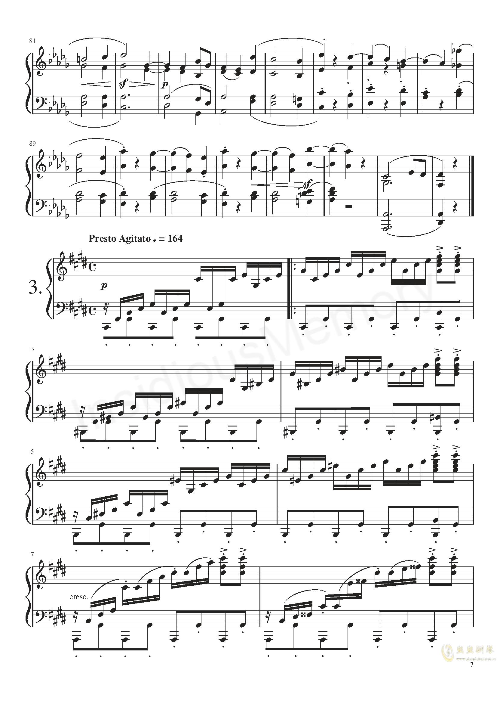 月光奏鸣曲钢琴谱 第7页