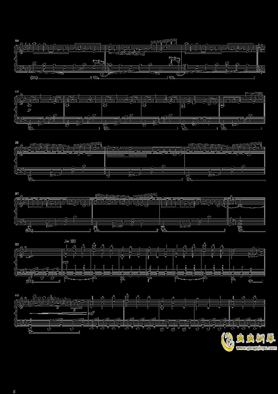 东方开场曲串烧钢琴谱 第6页