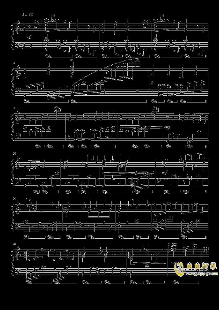 渡月桥思君钢琴谱 第1页