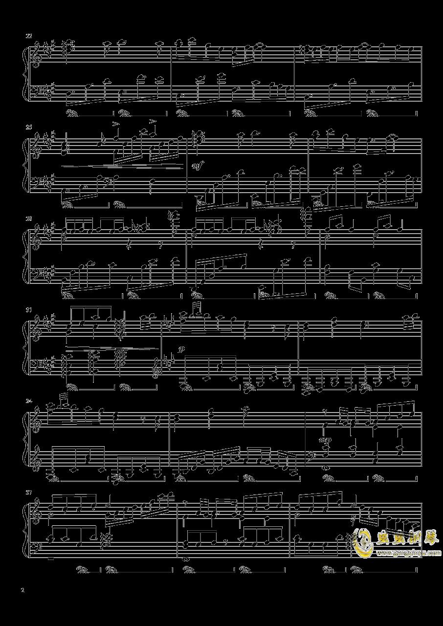 渡月桥思君钢琴谱 第2页