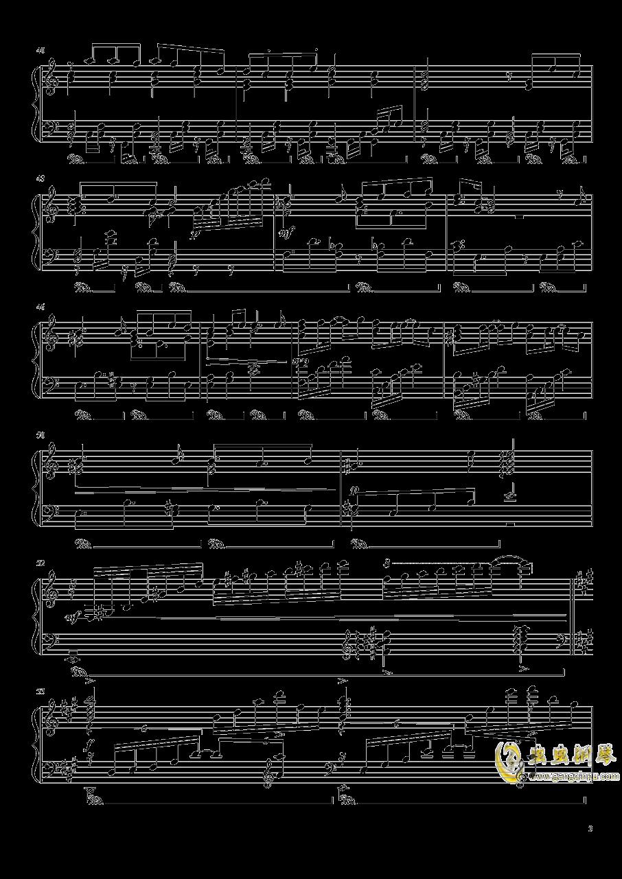 渡月桥思君钢琴谱 第3页