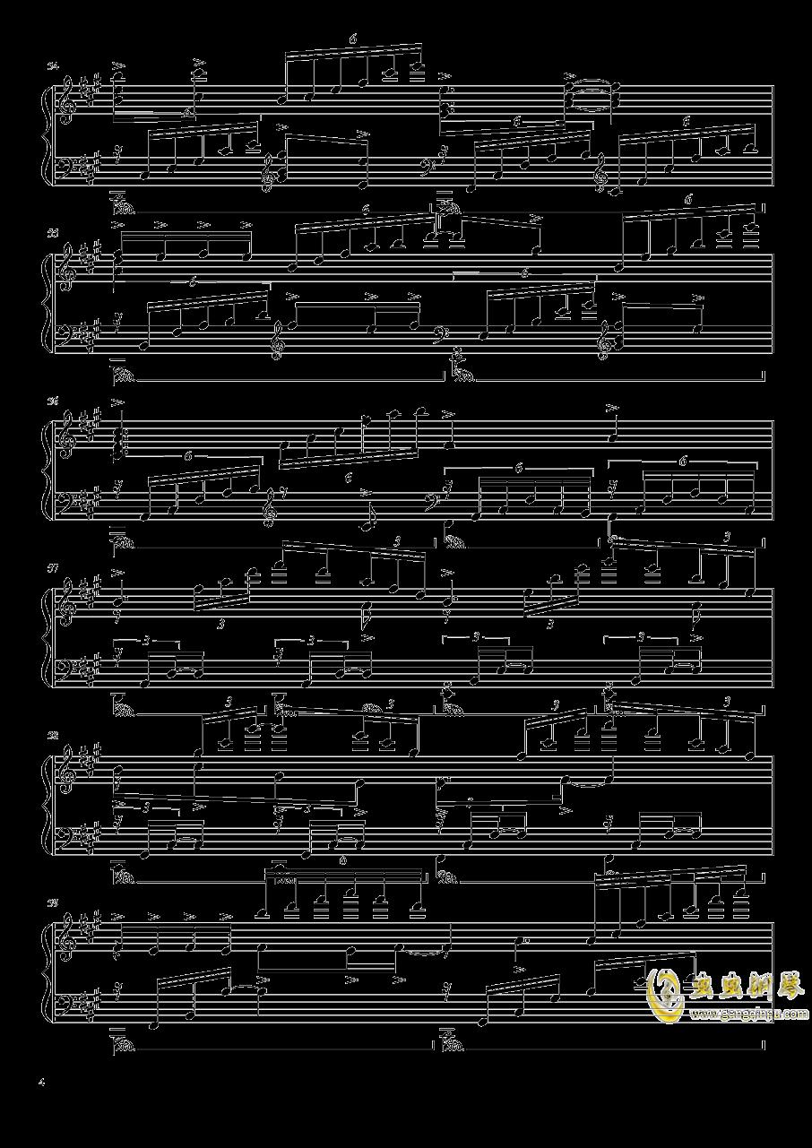 渡月桥思君钢琴谱 第4页